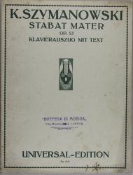Stabat Mater, für Soli, gemischten Chor und Orchester, op. 53